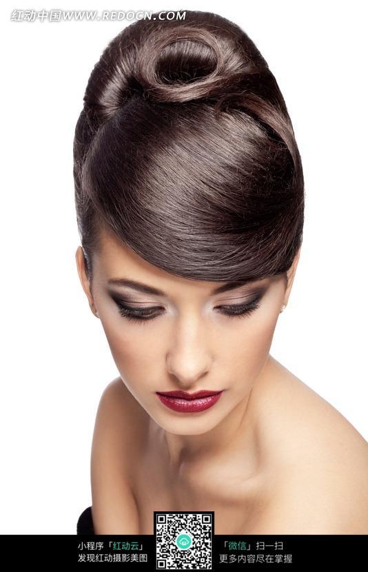 外国美发模特发型展示图片