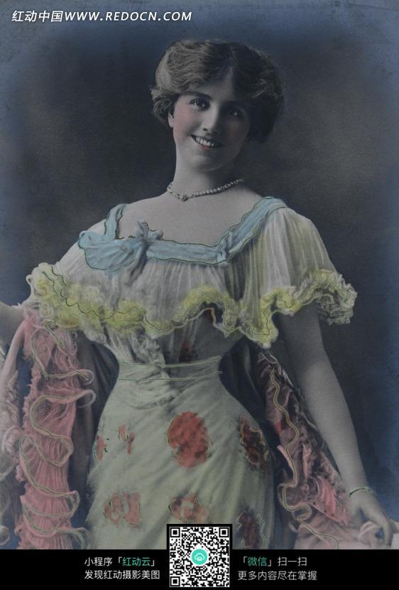 国复古女人图片