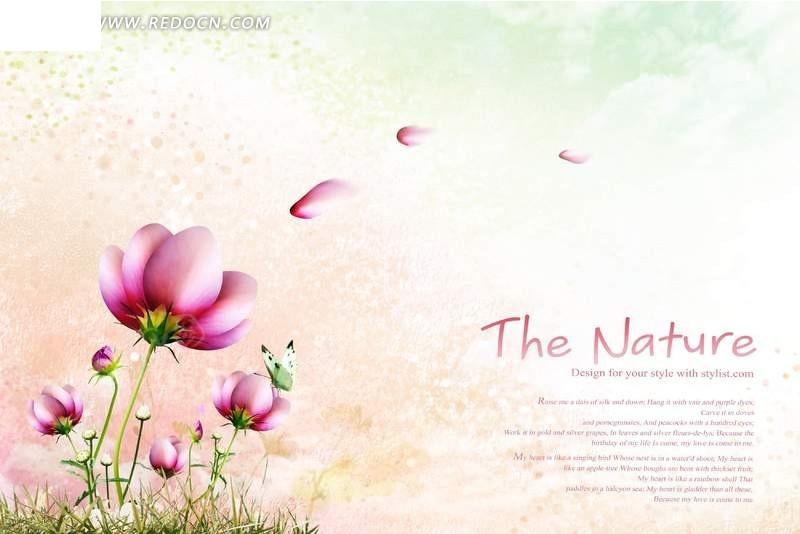 免费素材 psd素材 psd分层素材 风景 唯美粉色花朵图片psd  请您分享