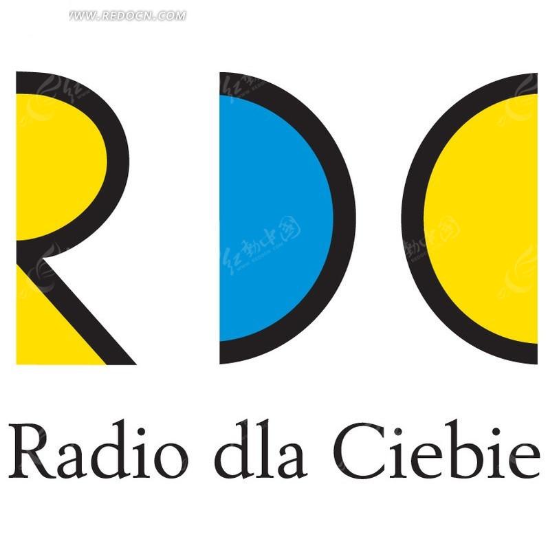 rdc字母 logo设计矢量图