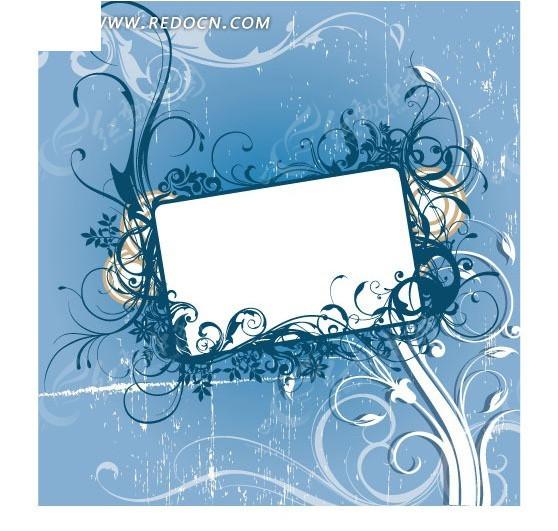 潮流方框花边纹饰图片