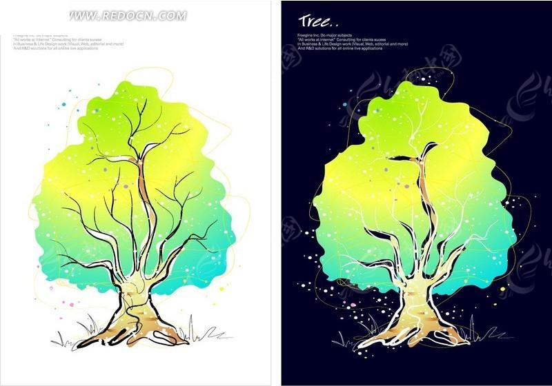 水彩类手绘植物插画设计