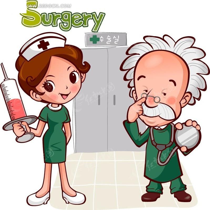医院卡通人物eps
