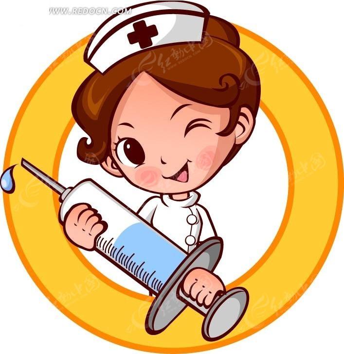 打针护士卡通人物矢量图编号:587173 卡通形