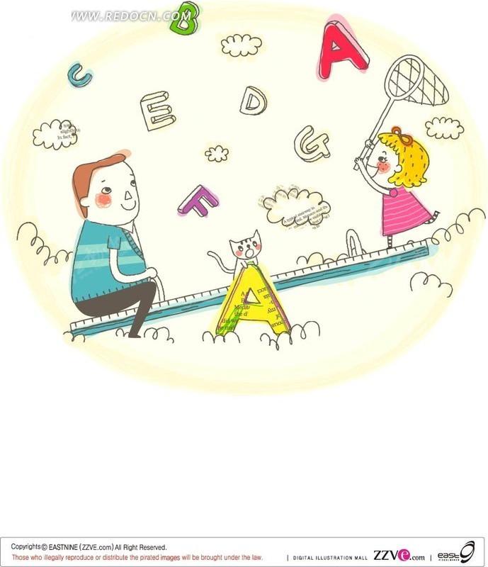 考通人物 手绘 宣传插画 线条 活动 玩耍 矢量素材 ai矢量  卡通人物