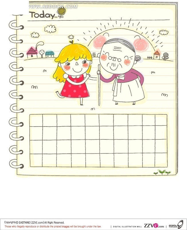 免费素材 矢量素材 矢量人物 卡通形象 日记本  请您分享: 红动网提供