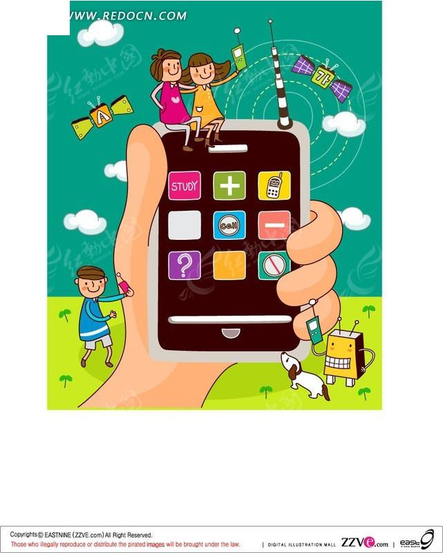 手机卡通广告