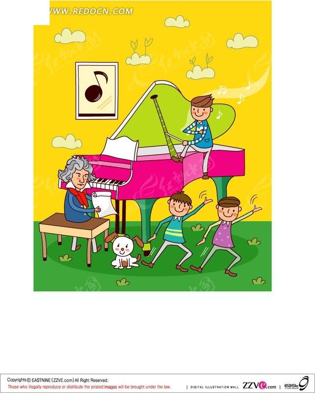 学_学音乐的儿童