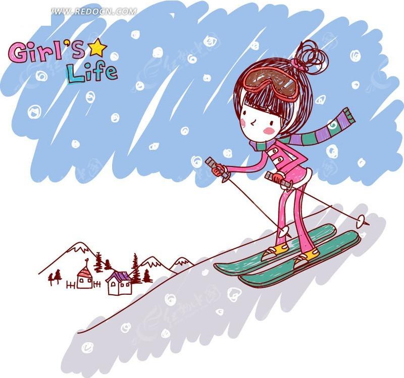 {一年级滑雪作文}.