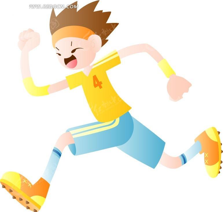 奔跑的卡通男孩矢量图编号:589939 卡通形象