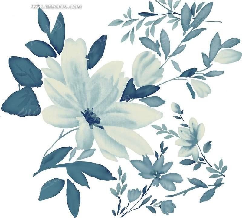 唯美手绘叶子边框
