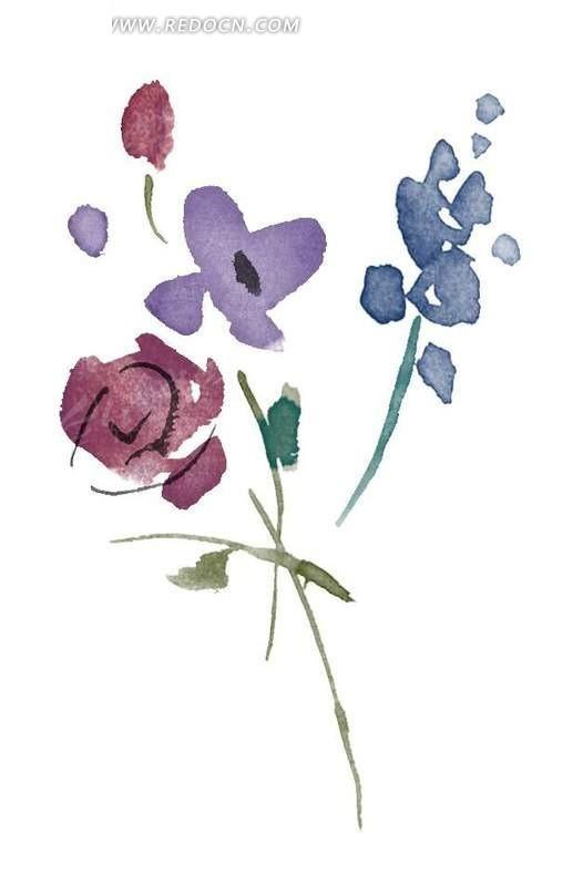 手绘 水粉 写意 玫瑰