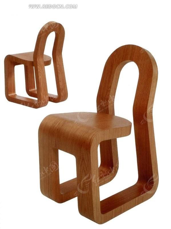 创意现代简约风格木质特殊造型椅子