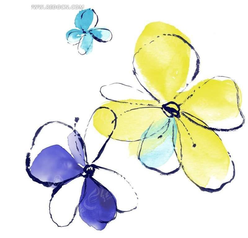 鼠绘个性花纹简笔画PSD免费下载 花纹花边素材