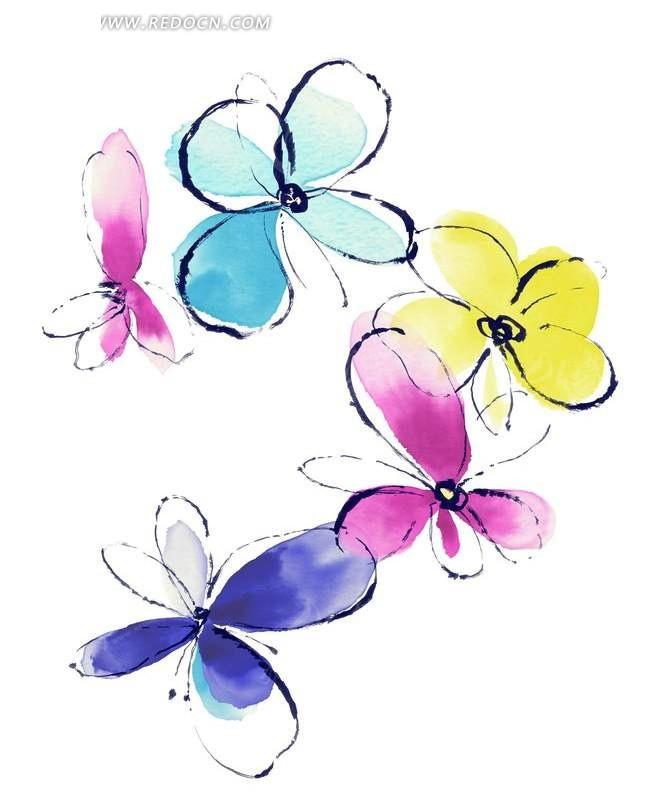 花朵手绘图图片