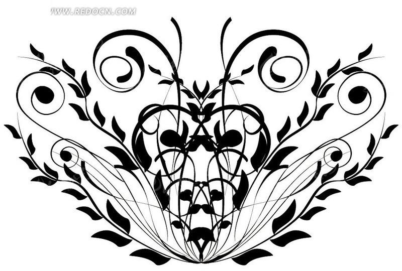 手绘3d立体黑白画