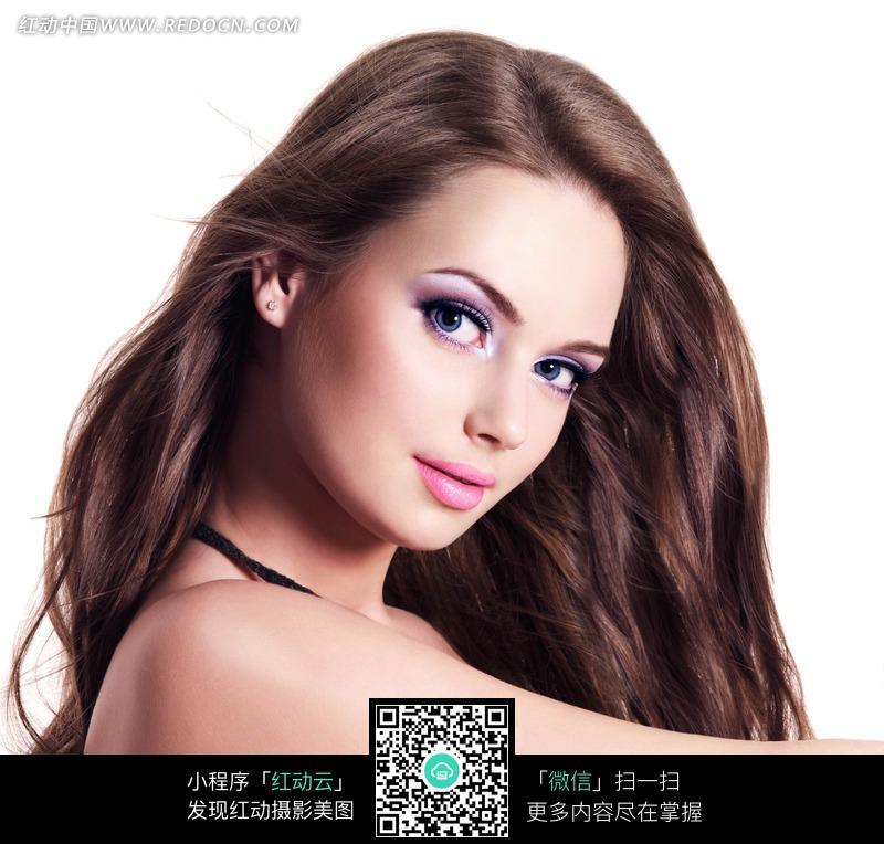 外国性感长发美女图片图片