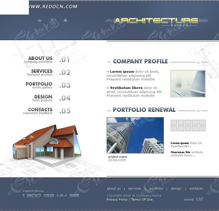 欧美网页设计模板图片