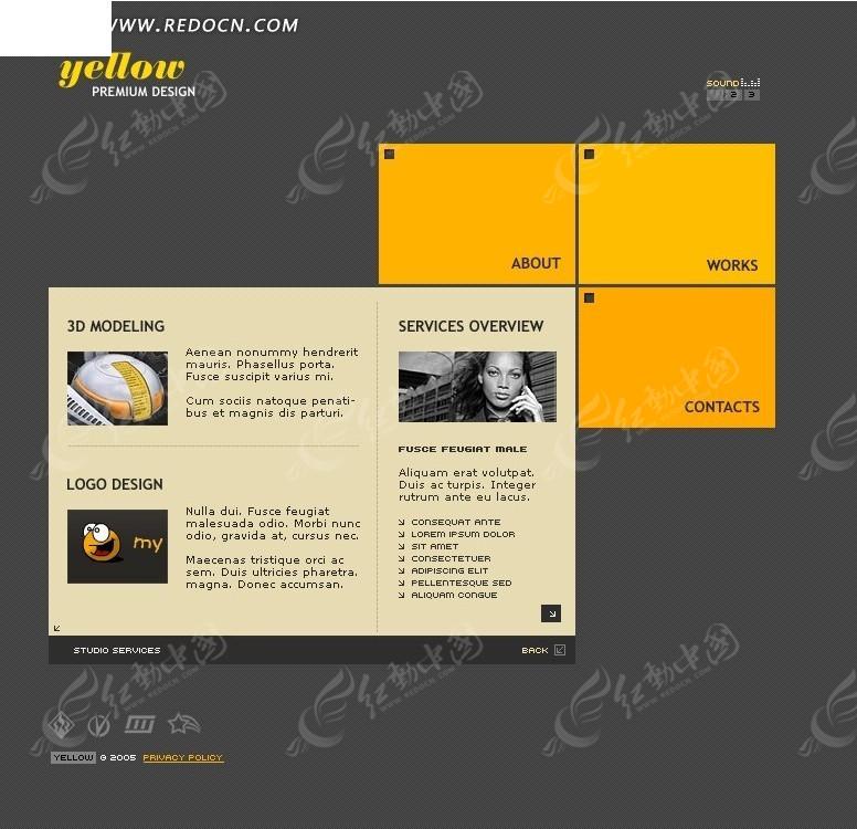 创意网页设计模板源码素材免费下载_红动网