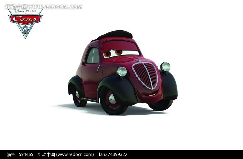 赛车总动员飞机简笔画_赛车总动员角色 紫色小汽车图片
