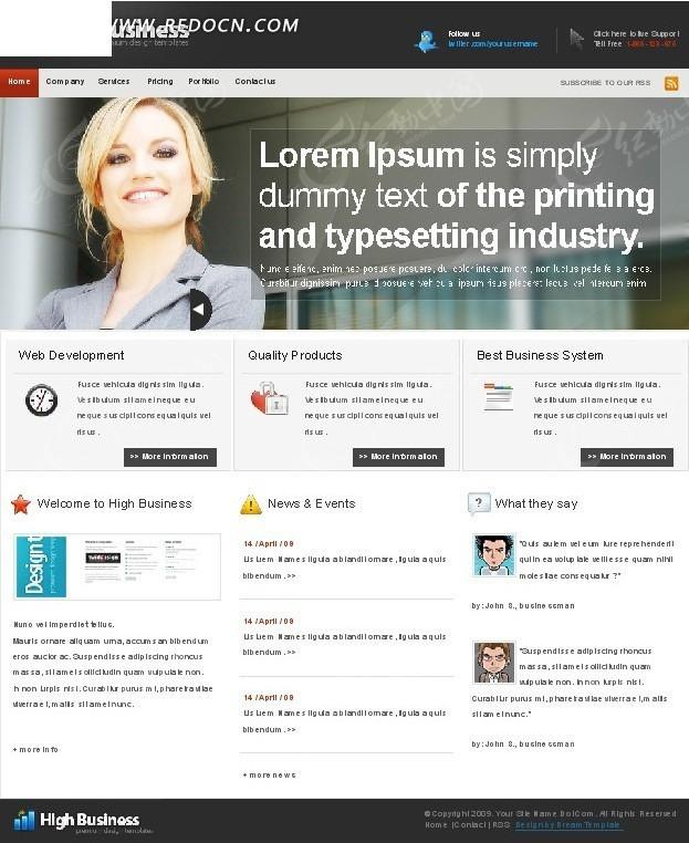 欧美印刷类网页设计
