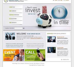 投资商务公司网页设计模板