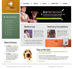 欧美宠物医院网页模板