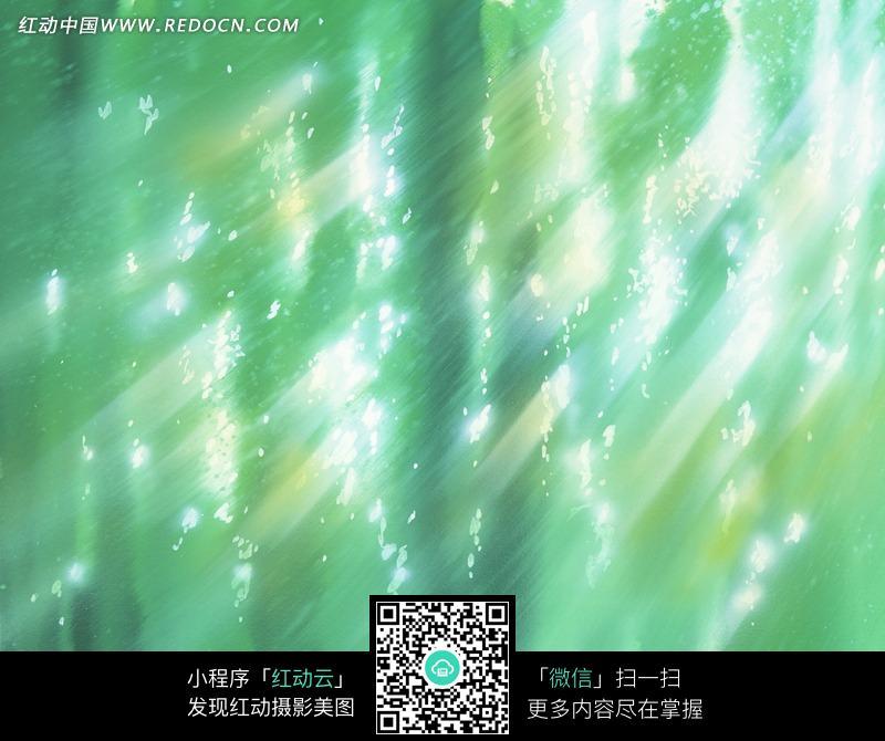 时尚手绘绿色光影背景图片