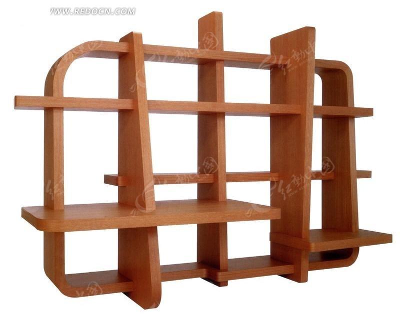 木质结构书架摄影照片