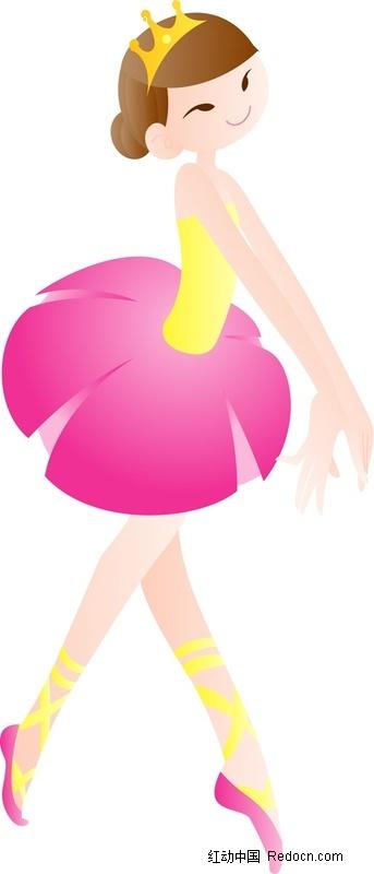 跳舞的卡通小女孩图片