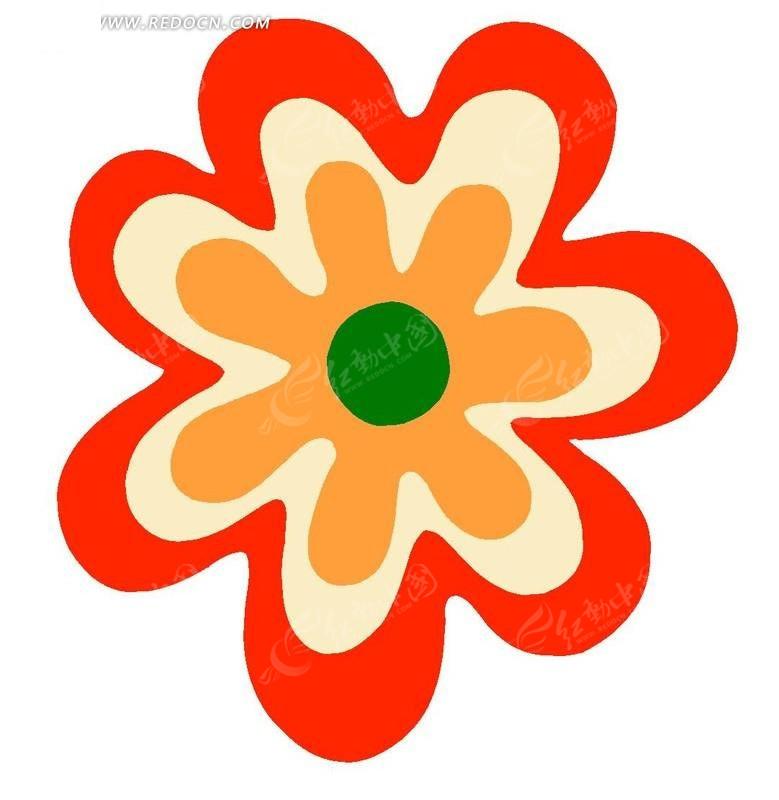 卡通图太阳花案花