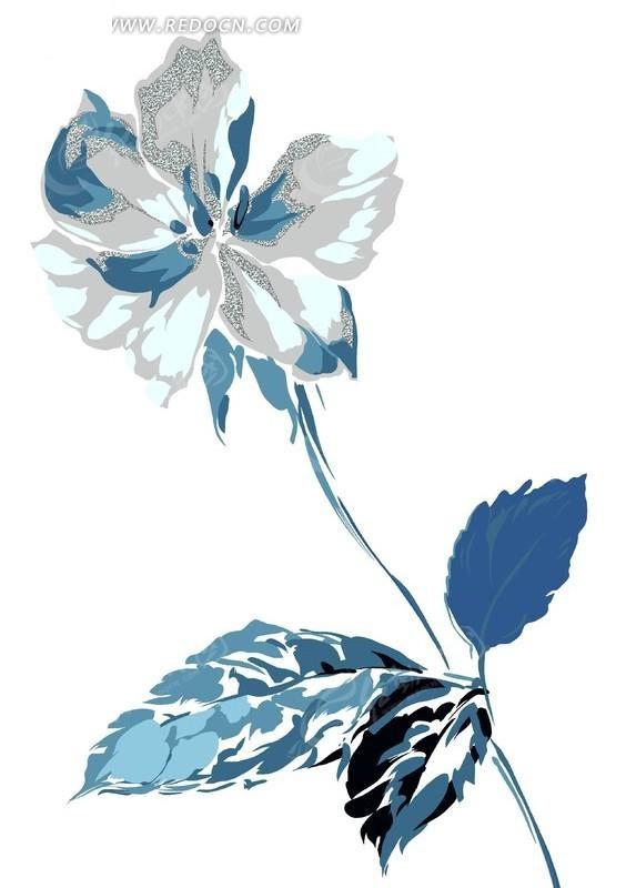 水粉 手绘 画 花卉 图案