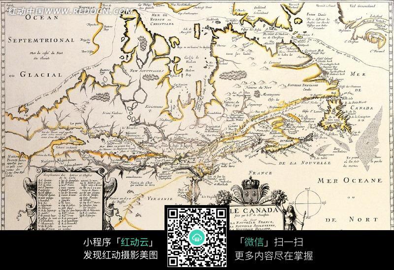 手绘简单的古代地图