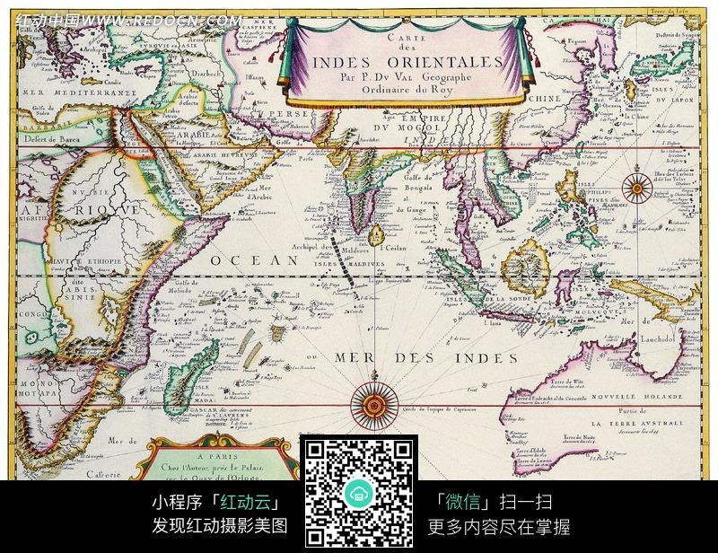 古代手绘的航海图图片
