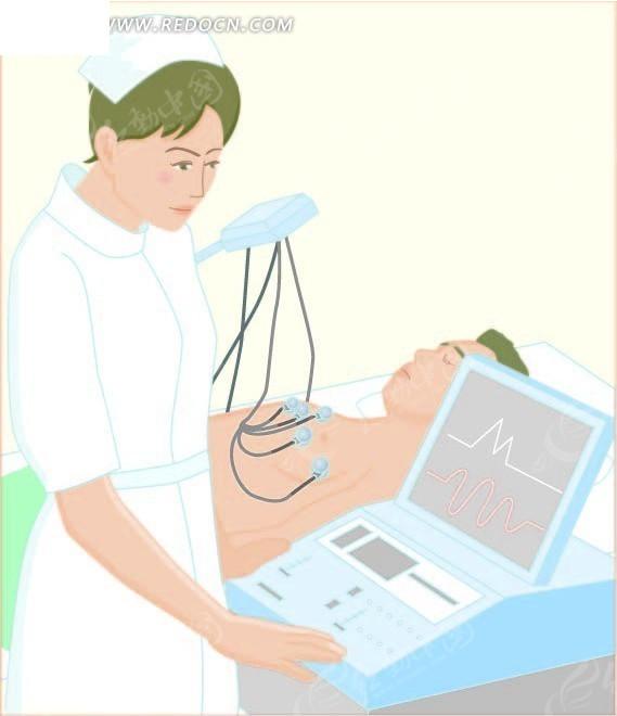 护士 病人 卡通人物 卡通人物图片 漫画人物 人物素材 人物图片 矢量