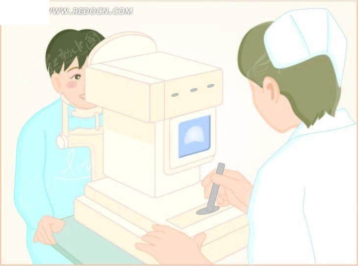 病人在检查视力矢量图_卡通形象