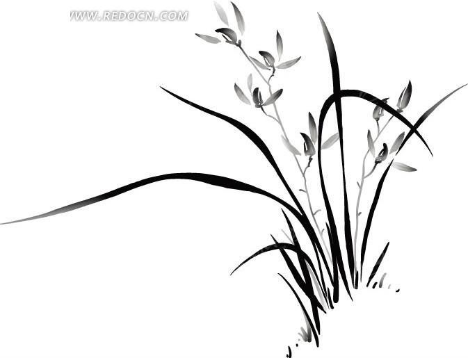 矢量水仙花图案ai免费下载_花纹花边素材