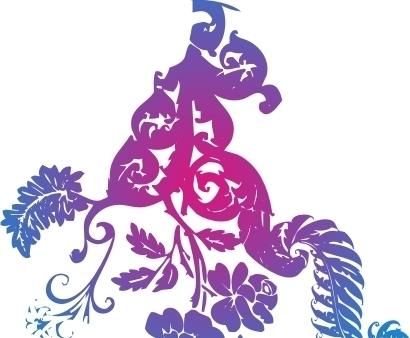 花卉 纹饰 线描 手绘尺量素材