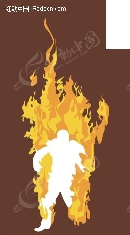 火焰人影cdr