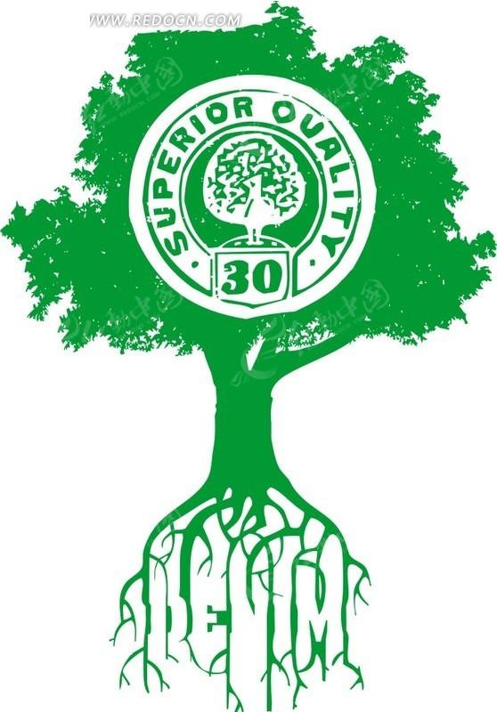 带根的创意大树