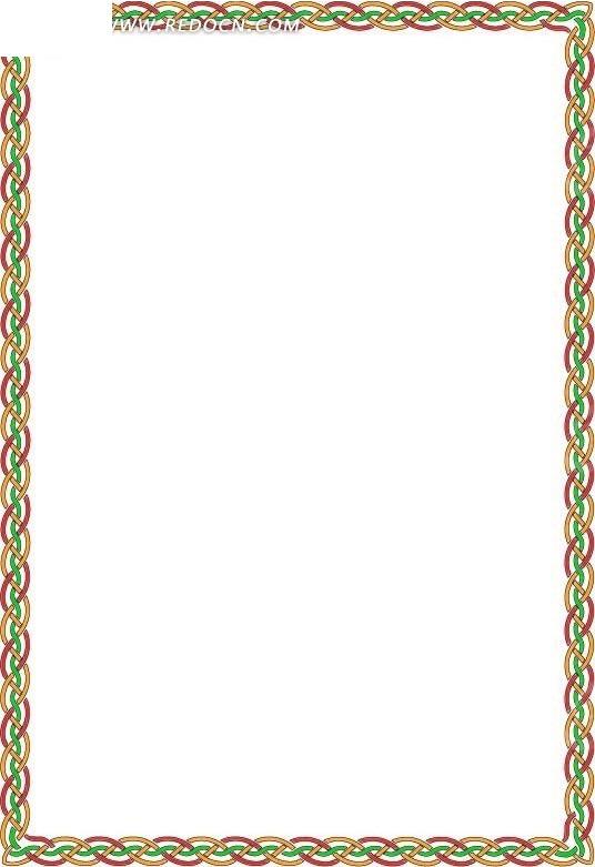精美欧式线条花纹边框