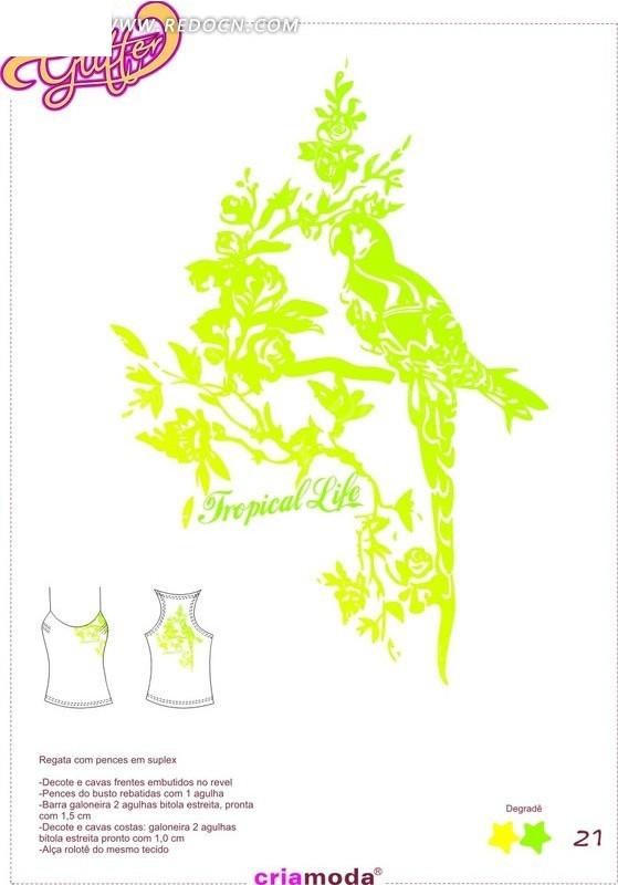 衣服图案素材 设计搞 中国风 cdr 矢量素材 花纹 花纹素材 花边 花边
