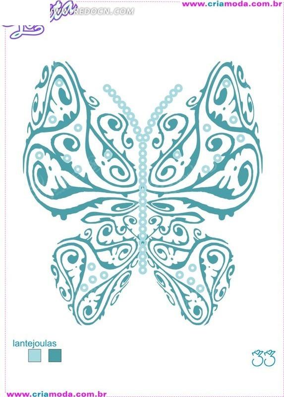 抽象涂鸦蝴蝶矢量图图片