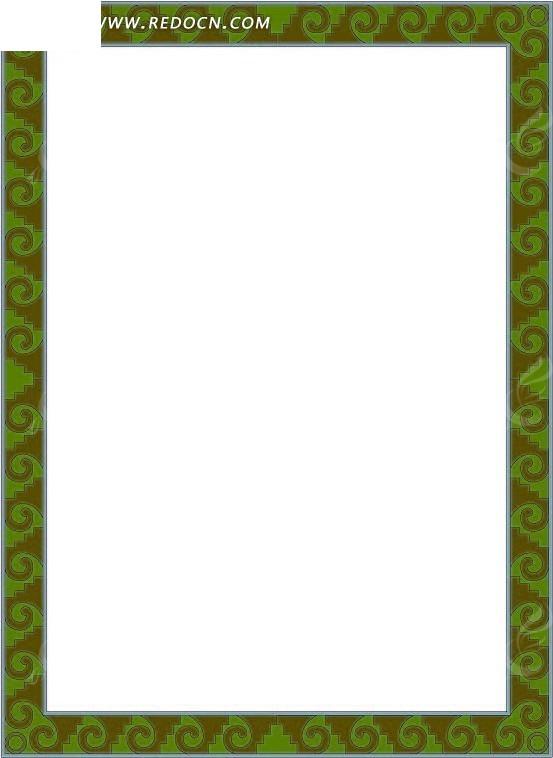 绿色海浪边框图片