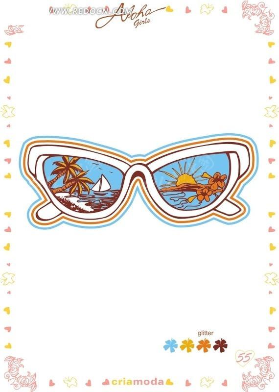 眼镜的联想图形创意