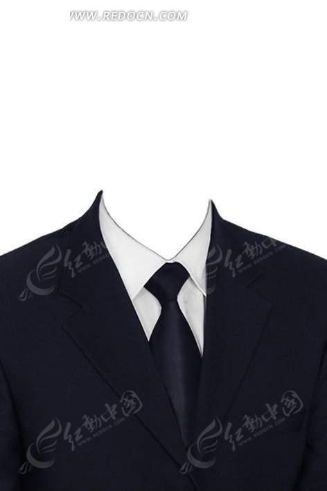 黑西服黑领带换脸模板图片