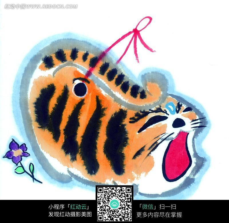 中国写意动物-黄色斑纹小猫图片