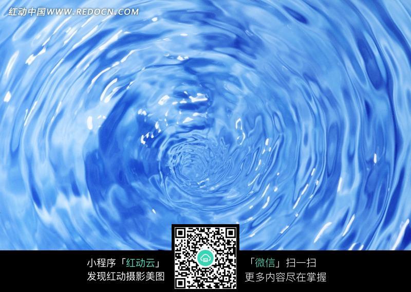 蓝色水纹图图片