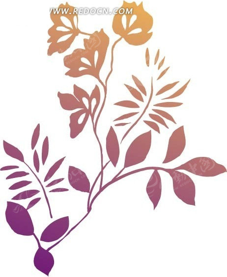 清晰版手绘矢量花纹矢量图AI免费下载 花纹花边素材