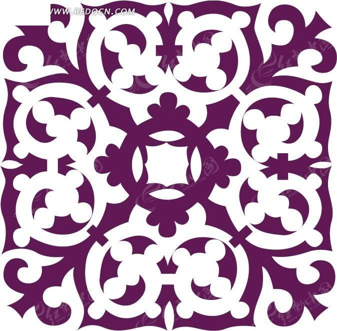 淡雅剪纸花纹花边图案素材图片